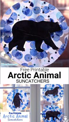 This Arctic Animal Suncatcher Craft is a gorgeous Winter craft for kids. Hang them in a window or from the ceiling and they look super pretty when the light shines through them. free printable polar animal silhouettes to choose from. Green Crafts For Kids, Animal Crafts For Kids, Winter Crafts For Kids, Animal Projects, Winter Fun, Kids Crafts, Toddler Crafts, Polar Animals Preschool Crafts, Felt Crafts