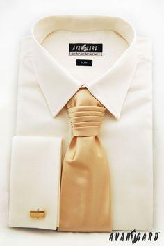 Pánská košile se saténovou regatou a manžetovými knoflíčky  AVANTGARD Slim, Fashion, Moda, Fashion Styles, Fashion Illustrations