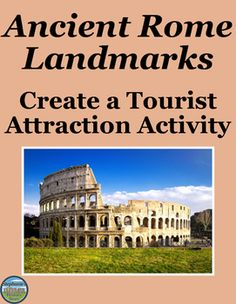 """Students review Ancient Rome's landmarks by choosing 20 and creating a """"mini-Ancient Rome"""" for tourists to experience as much of Rome as possible without actually traveling around.  There are 8 major requirements to this project, each clearly detailed in the instructions, including but not limited to identifications, maps, food, an advertisement,and more! A sample layout is included, as well as a selection of items students can choose from and a points distribution."""