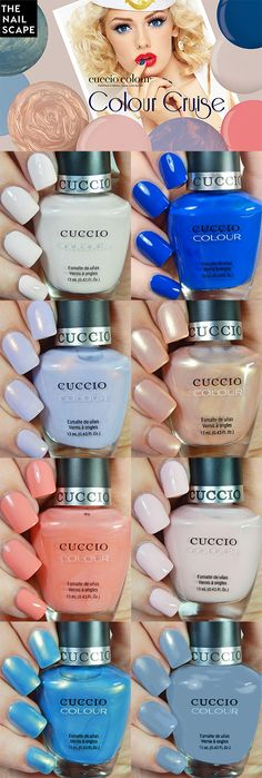 Cuccio Colour Cruise Collection swatched by The Nailscape - Available in both Colour and Veneer