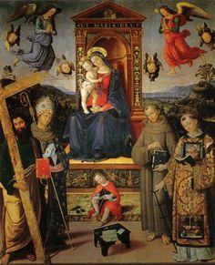 Madonna in trono e santi (Pinturicchio) - Wikipedia