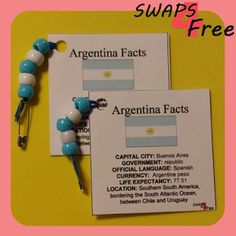 SWAPS4Free: Argentina Quick Fact Card World Thinking Day Girl Scout SWAPS - Free Printable!