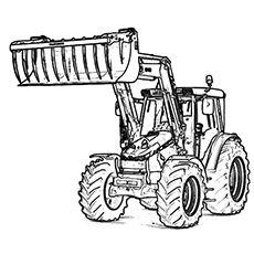 ausmalbilder traktor new holland (mit bildern