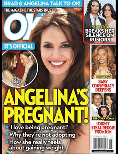 Ok Magazine Angelina Jolie Brad Pitt Katy Perry Beyonce Kim Kardashian 2012 Angelina Jolie Pregnant, Brad Pitt And Angelina Jolie, Kim Kardashian 2012, Celebrity Magazines, Hollywood Celebrities, Katy Perry, Celebrity Gossip, Pregnancy Photos, Scandal
