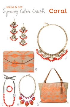Coral Jewelry and Accessories from Stella & Dot for Spring 2014