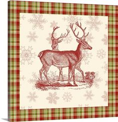 """Reindeer Toile I"" by Vision Studio via @greatbigcanvas available at GreatBIGCanvas.com."