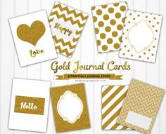 FREE 8 Printable Journaling Cards in Gold Patterns BY Best Design Options. [ The download file is password-protected to prevent hotlinking. ]