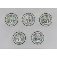 Set of ten buttons,1775–80
