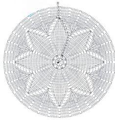 from 65 accesorios de crochet beret crown Mandala Au Crochet, Crochet Diy, Crochet Motifs, Crochet Circles, Crochet Diagram, Tapestry Crochet, Crochet Round, Crochet Squares, Crochet Home