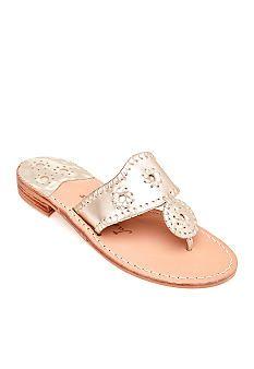 9c13d1bc144c3 Jack Rogers Hamptons Sandal Platinum or Gold Jack Rogers Shoes