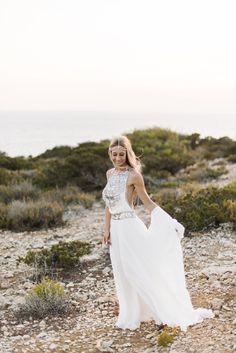 Photography: Ana Lui Photography  - analuiphotography.com/  Read More: http://www.stylemepretty.com/destination-weddings/2015/05/04/bohemian-beach-wedding-in-ibiza/