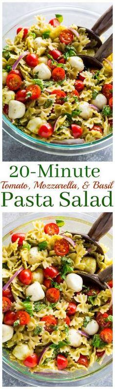 This Tomato Basil and Mozzarella Pasta Salad is fresh fast and flavorful! This Tomato Basil and Mozzarella Pasta Salad is fresh fast and flavorful! Mozzarella Pasta, Tomato Basil Pasta, Fresh Mozzarella, Basil Pasta Salads, Tomato Tomato, Spinach Salads, Taco Salads, Tomato Salad, Gourmet