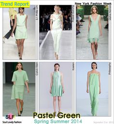 Green#Pastel #Colors Fashion #Trend for Spring Summer 2014 at New York #Fashion Week #NYFW #Spring2014 #Color #Trends  #green