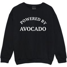 Powered by Avocado Sweater Jumper Funny Fun Tumblr Hipster Swag Grunge... ($20) ❤ liked on Polyvore featuring tops, shirts, black, sweatshirts, women's clothing, grunge shirts, star shirt, shirt top, punk tops and goth tops