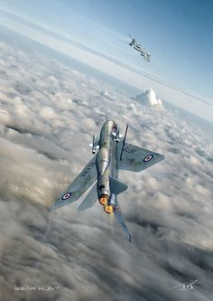 Lightning & ' Bear ' Drones, Military Jets, Military Aircraft, Air Fighter, Fighter Jets, V Force, War Jet, Aircraft Painting, Airplane Art
