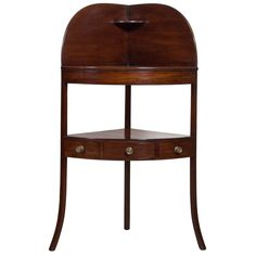 19th Century Regency Mahogany Corner Wash Stand | From a unique collection of antique and modern side tables at https://www.1stdibs.com/furniture/tables/side-tables/