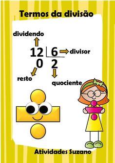 Matemáticas - Como fazer a PROVA DOS 9 para saberes se a DIVISÃO ESTÁ CERTA? É assim: o DIVISOR multiplicas pelo QUOCIENTE e SOMAS O RESTO. O resultado É SEMPRE IGUAL ao DIVIDENDO. ---> DIVISOR x QUOCIENTE + o RESTO é = ao DIVIDENDO.