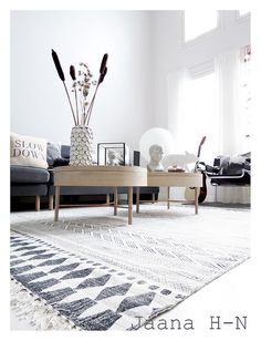 https://flic.kr/p/EoWWYg | House Doctor Block Rug | Spring cleaning!  I bought this  handwoven monochrome rug from House Doctor. It's beautifully hand block printed.