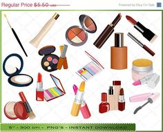 50% OFF SALE Makeup Clipart / Cosmetics by Digitalclipartstore