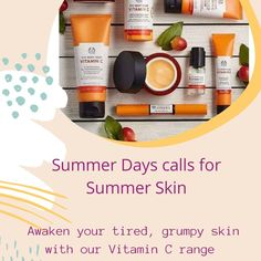 Saturday's Summer Shout out For the best smelling scented skincare range ever!!  Vitamin C -  reawakens my tired skin (not surprising when the pooches wake me up at 4am every morning, just to go back to sleep after a cuddle.  Enriched with Camu Camu berries that pack higher levels of vitamin c than a lowly orange ask yourself why you have tried the range yet.    Now with 20% off!!! Such a wide range to choose from:  🍊 Liquid Peel  🍊 Sheet Mask 🍊 Daily cleansing Polish 🍊 Glow protect… Summer Skin, Sheet Mask, The Body Shop, Vitamin C, Cuddle, Tired, Lotion, Berries, Glow