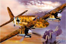 Henschel Hs-129B-1 over the Med.