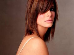 I think i pretty much have this hair cut, just need the chunkier bangs and maybe just a little more rougher layers!