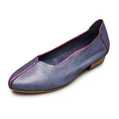 4ad21b3b9a1d Provocante Womens Leather Simple Comfort Slipon Glove Shoes Ballet Flats 65  Celadon -- Visit the