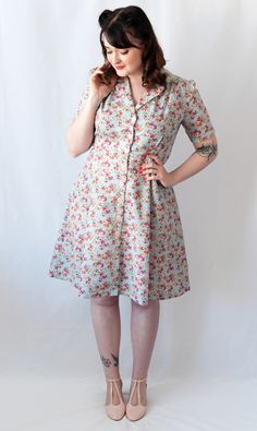 Sew Over It - Vintage Shirt Dress #2! - The Crafty Pinup - Retro and Vintage Style Sewing Blog