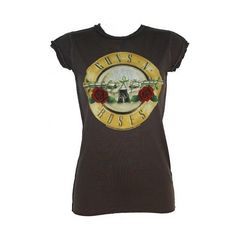 Guns N Roses Drum T-Shirt From Amplified Vintage ($39) ❤ liked on Polyvore featuring tops, t-shirts, shirts, blusas, vintage shirts, vintage t shirts, rose t shirt, rosette top and vintage tees