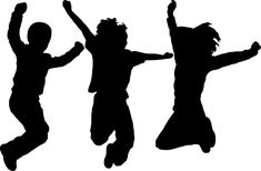 Silhouette, Dancing, Jumping, People, Art, Silhouetted