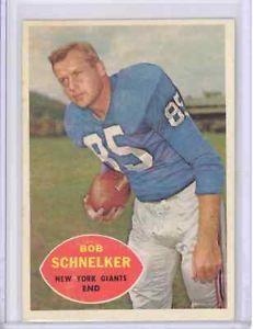 1960 Topps 7 Bob Schnelker New York Giants EXMT Green Bay Packers   eBay