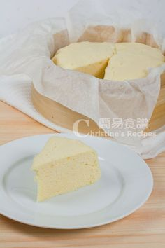 Steamed Cake (Old fashioned Dim Sum) - Christine's Recipes: Easy Chinese Recipes Dim Sum, Chinese Cake, Chinese Food, Chinese Steam Cake Recipe, Chinese Sponge Cake Recipe, Bamboo Steamer Recipes, Christine's Recipe, Ma Lai Go Recipe, Easy Chinese Recipes
