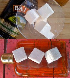 whiskey and baileys gourmet marshmallows. yum