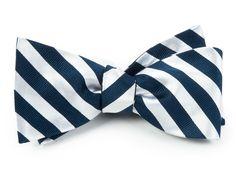 Twill White Stripe - Navy