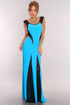 Whether entering or leaving a room, this mesh maxi dress will make you the most memorable person at your next event. Style features, scoop neckline, sleeveless, back cutout detail, two toned, front well placed mesh cutouts that peek curiosity, and the back mesh opening for that extra bang, and nice fitted for those sexy curves of yours! 92% Polyester 8% Spandex MADE IN USA
