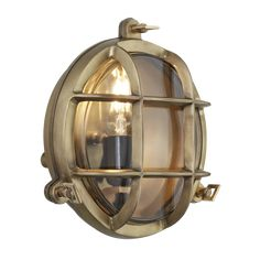 Bulkhead Round Wall Light with Clear Glass - 8 Inch Brass - back , clear Retro Lighting, Home Lighting, Industrial Chic, Vintage Industrial, Cascade Lights, Outdoor Bathrooms, Wall Lights, Ceiling Lights, Wall Mounted Light