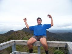 #greatwalker Al at lookout tower summit Pirongia Forest