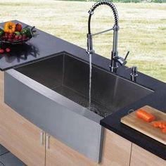 """el nombre de este tipo de sink es --""""Barn kitchen sink""""--"""