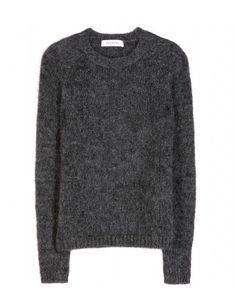 Invest in style staples like Valentino's mohair-blend sweater. The rich anthracite colour is a timeless choice, with a fuzzy texture for polished volume. Keep it chic with a pair of black tailored trousers and pointed pumps.