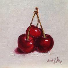 Oil Paintings by Nina R. Aide: Red Cherries