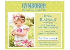 Gymboree Coupon for a Free Body Suit with Purchase!
