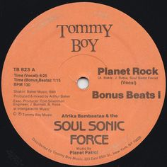 Afrika Bambaataa & The Soul Sonic Force* Music By Planet Patrol ‎– Planet Rock - 1982