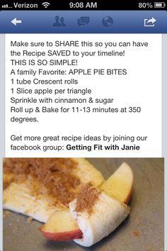 Healthy apple treats