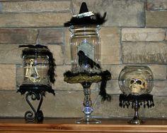 Halloween terrariums