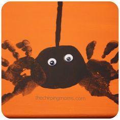 Halloween Craft for Kids: Handprint Spider