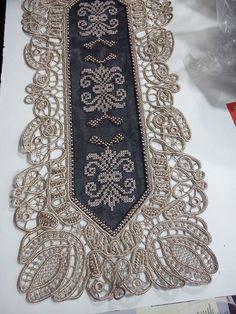 Point Lace, Needlepoint, Cross Stitch, Diamond, Jewelry, Table Toppers, Craft, Punto De Cruz, Jewlery