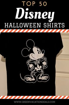 Best Disney Halloween shirts to celebrate the season! Whether you'll be enjoying the Halloween decorations in Walt Disney World or want to bring some holiday fun into your everyday life at home, you are sure to love these top 50 shirts. They include Disney favorites like Mickey Walt Disney World Vacations, Disney Resorts, Disney Trips, Disney Halloween Shirts, Scary Halloween, Disney World With Toddlers, Disney World Planning, Disney World Tips And Tricks, Haunted Mansion