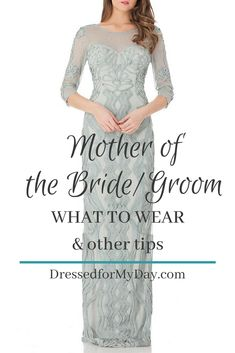 Mother wedding dress - Most moms dream of sitting up front at the wedding of their son or daughter But when the time comes it's sometimes hard to navigate all the preparations I'm sharing some tips from seasoned Mothers o Mother Of The Bride Fashion, Mother Of The Bride Dresses Long, Mother Of Bride Outfits, Mothers Dresses, Long Mothers Dress, Grooms Mother Dresses, Grooms Mom Dress, Brides Mom Dress, Mother Daughter Wedding
