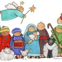 nativity clipart for sale Christmas Nativity Scene, Noel Christmas, Christmas Crafts, Christmas Decorations, Xmas, Nativity Scenes, Christmas Placemats, Christmas Drawing, Christmas Paintings