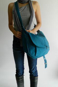 SALE SALE SALE - Kylie in teal // Messenger / Diaper bag / Shoulder bag / Tote bag / Purse / Handbag / Hip bag / Women / For her